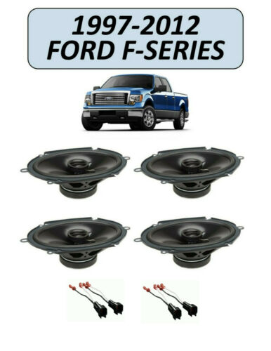 Fits F-150 250 350 TRUCK POWERBASS STEREO FRONT AND REAR SPEAKERS W// HARNESS