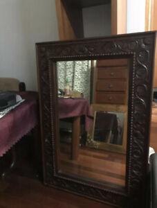 Miroir en bois de teck balinais massif