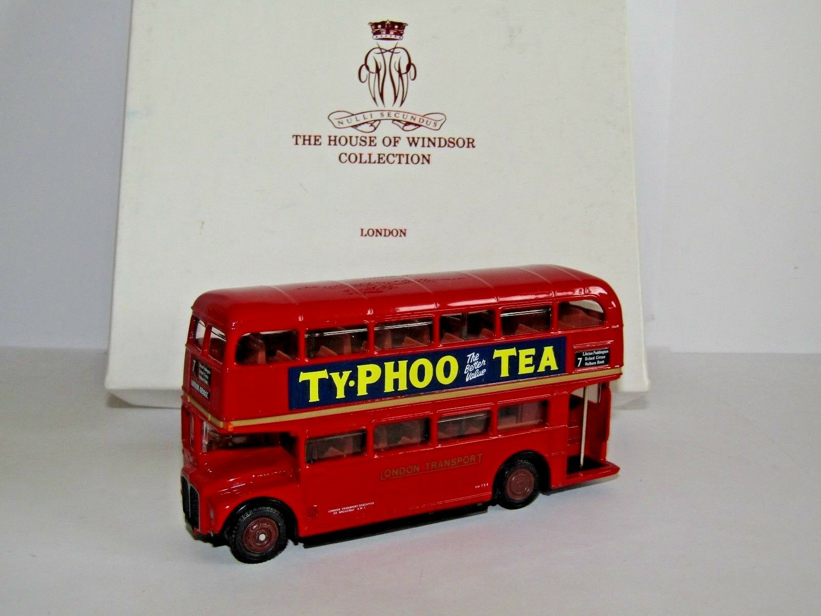 forma única Efe AEC RM RM RM Routemaster Bus Londres transporte Casa de Windsor Ruta 7 1 76 15608C  auténtico