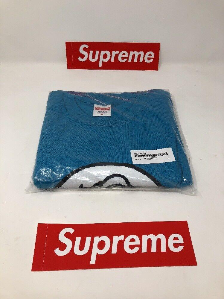 Supreme Nuovo York SS18 Molotov Tee Cyan blu Extra autentico Large XL 100% autentico Extra 0d062f