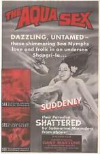 AQUA SEX aka THE MERMAIDS OF TIBURON orig 1962 1sheet movie poster SCUBA DIVING