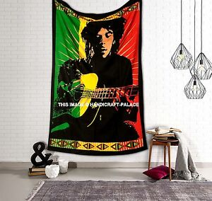 Bob Marley Bed Cover Bohemian Bedspread Hippie Tapestry Indian