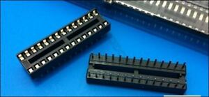 10 Pcs DIP-28 28 Pin 28Pin Dip Ic Sockets Adaptor Solder Type Narrow ic