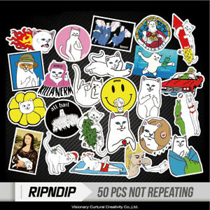 50pcs-Middle-Finger-ripndip-Sticker-for-Snowboard-Luggage-Car-Laptop-Lot