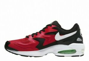 Nike Men's Air Max2 Light Shoes NEW AUTHENTIC Black/Red/Green/White AO1741-003