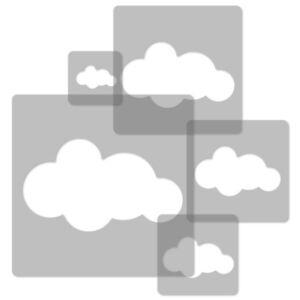 34x34cm To 9x9cm 5x Reusable Plastic Stencils Nursery Template // Cloud #2 Good Reputation Over The World