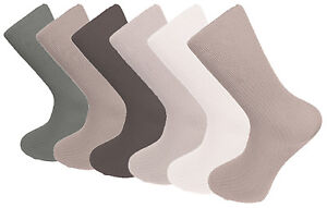 6 Pairs Of Mens Bamboo Loose Top, Brown Selection, Anti Bacterial Socks, 6-11