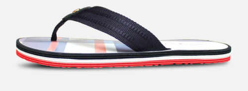 Luxury Tommy Hilfiger Red White Blue Check Flip Flop Sandal