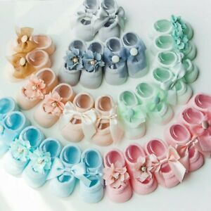 3Pairs-Pack-Newborn-Baby-Girl-Lace-Frilly-Bow-Ankle-Anti-Slip-Socks-0-3T-Toddler