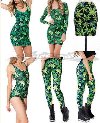 WOAH ROPA MARIHUANA NUEVA! / DRESS LEGGINGS LEAF WEED CANNABIS BRAND NEW!