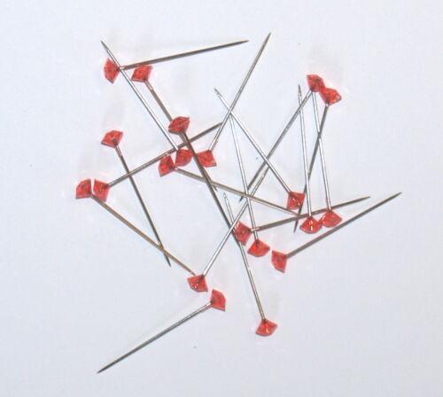 hoyos del botón Etc 20 X 37mm Rojo diamantie Pins Para Corsage