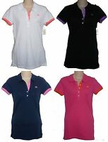 Womens AEROPOSTALE Solid A87 Jersey Polo Shirt NWT #6457