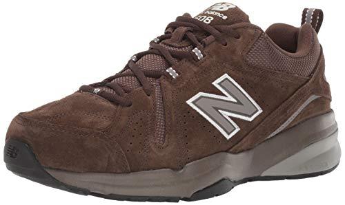 Comodidad informales para hombres de 608v5 Balance Caminar Zapato, Chocolate Marrón blancoo, 10.5 4E