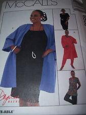 LADIES CUTE CROPPED JACKET /& BACK ZIPPER DRESS PATTERN 10-24 FF McCALL/'S #8583