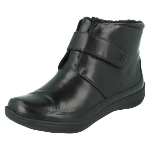 baja Botines Clarks K Leather By Etna de Wide cuña Negro Más Casual invierno de Ladies tvwPZAxq