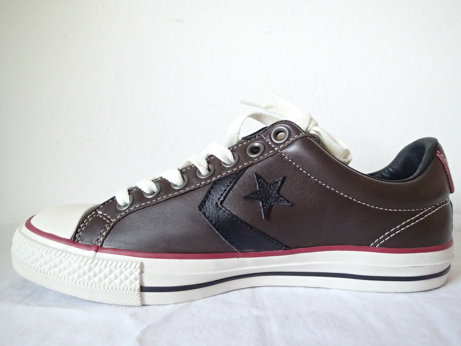 CONVERSE ALL STAR PLAYER EV OX 128177C BROWN MARRONE PELLE LEATHER BASSE TAYLOR