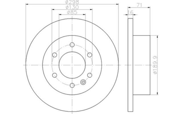 2x TEXTAR Discos de Freno Traseros Pleno 298mm Para VW CRAFTER 93143303