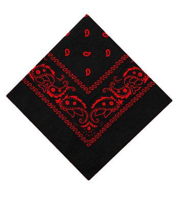 2 St/ück Schwarz Wei/ß Rot Muster Kopftuch Bandana Halstuch