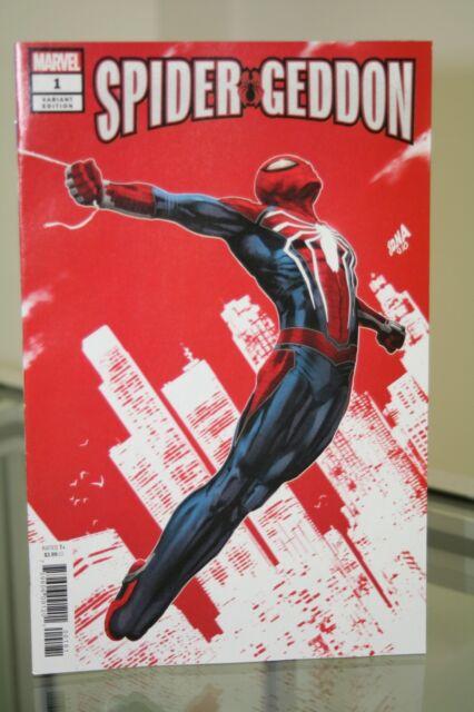 MARVEL COMICS SPIDER-GEDDON #1 NAKAYAMA PS4 SPIDER-MAN GAME VARIANT COVER