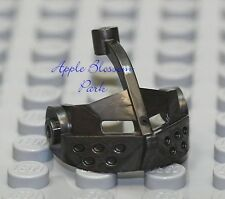 NEW Lego Minifig Dark Pearl GRAY HELMET VISOR - Kingdoms/Castle Knight Head Gear