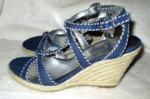 Blue Tommy Hilfiger Strappy Wedge Heel