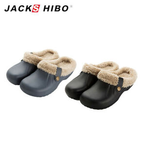 Mens-Winter-Slippers-Indoor-Outdoor-Clog-Soft-Plush-Lined-Warm-Fuzzy-House-Shoes