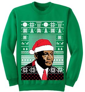 Michael Jordan Crying Meme Ugly Christmas Sweater Crewneck Holiday