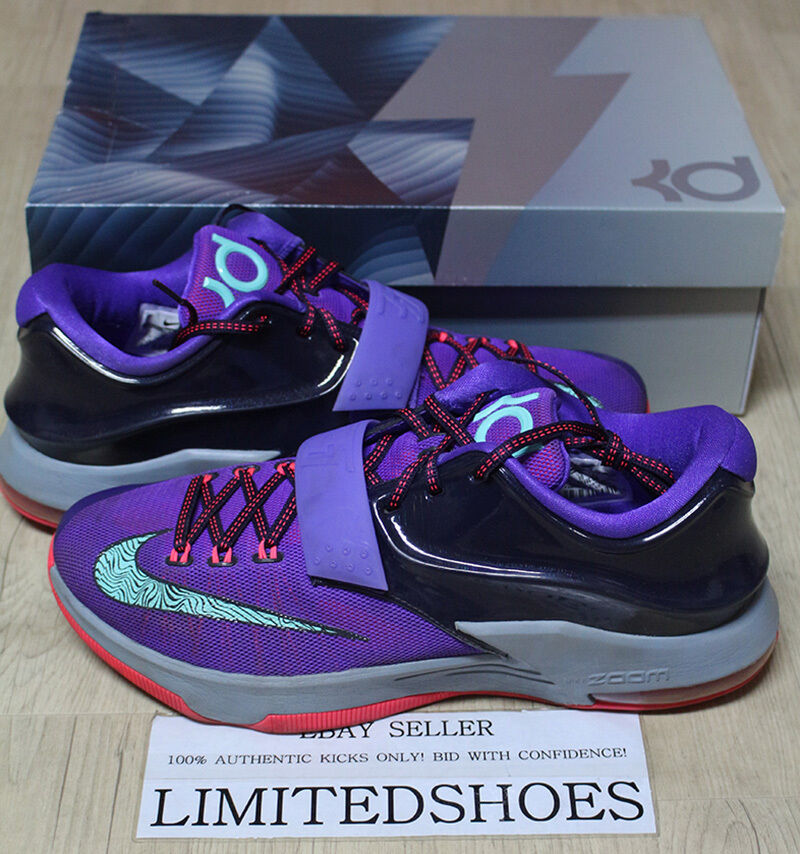 NIKE KD 7 VII LIGHTNING 534 CAVE PURPLE HYPER GRAPE 653996-535 US 11 bhm easter