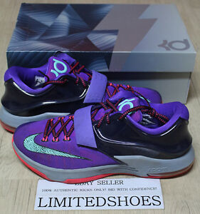 4db7cbaa81c1 NIKE KD 7 VII LIGHTNING 534 CAVE PURPLE HYPER GRAPE 653996-535 US 11 ...