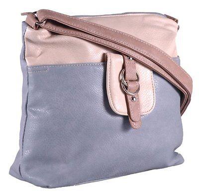 Damen Kunstleder Mehrfarben Crossbody Frauen Tasche