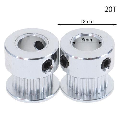 2Pcs 16T//20T GT2 Timing Pulley 5//6.35//8mm Bore For Belt Reprap 3D Printer Pp la