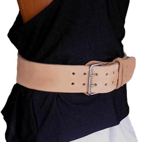 Weightlifting Real Leather Back Support Belt 6 Inch Unpadded