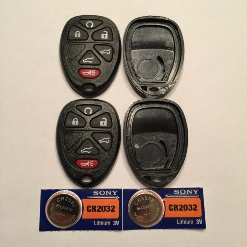 2 New 6 Button Keyless Remote Shell Cases CR2032 Batteries OUC60270 15913427