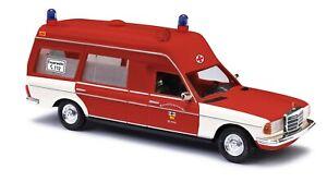 Busch-52207-Mercedes-VF-123-Meanies-Fire-Brigade-Bonn-Car-Model-1-87-H0
