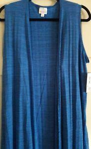 Heathered Lularoe Joy Royal Medium Vest Blue Long Htwt7qr