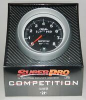 Superpro Competition 3 3/8 Tachometer Tach W/ Shift Light 0-8000 Rpm -black