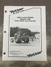 Yetter 4000 4100 Danish Tine Row Crop Cultivator Operators Manual 2565 103