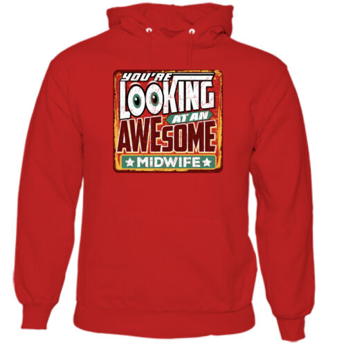 You/'re Looking at an Awesome Midwife Mens Funny Hoodie Midwifery Baby