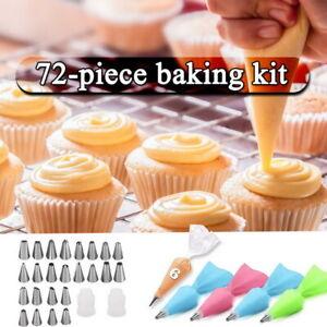 72Pcs Cake Decorating Supplies Case Kit Icing Tips Set ...