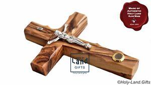 Wall-Cross-Crucifix-Olive-Wood-Olivewood-Bethlehem-Holy-Land-Jerusalem-with-soil