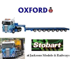 Oxford SHL01LL Scania Highline Low Loader Stobart Rail 1 76 Scale