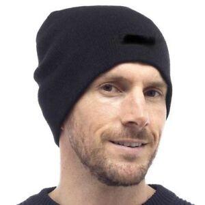 eb2fee4dfa4 Knitted Men s Beanie Hat Ski Skull Cap Work Snow Drivers Hats Black ...