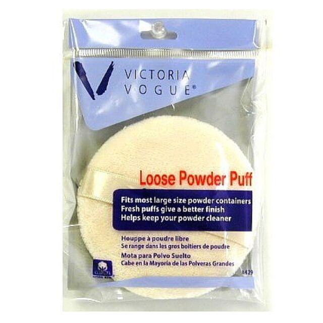 Victoria Vogue Round Loose Powder Puff 1 ea (Pack of 2)