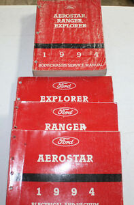 1994 Ford Explorer, Ranger, Aerostar Service Manual ...