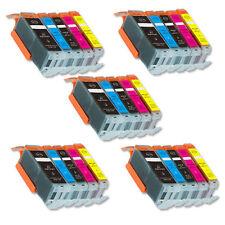 25 PK Printer Ink Set + chip fits Canon PGI-250 CLI-251 XL MG5522 MG5622 MG6622