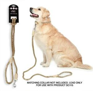 SMART-CHOICE-DOG-LEAD-ROPE-LEATHER-PET-CARE-12MMX120CM