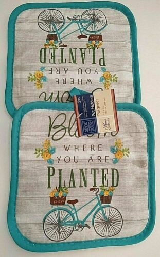 """Towels Pot Holders Mitt Home Collection-/""""Bloom WHERE YOU ARE PLANTED/""""-Choose 1"""