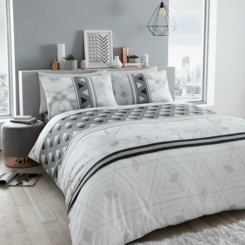 All Sizes Luxury Marble Stripe Duvet Cover Bedding Set with Pillow Cases