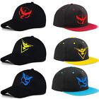 Pokemon Go Team Valor Mystic Instinct Embroider Cap Baseball Cap Snapback Hats