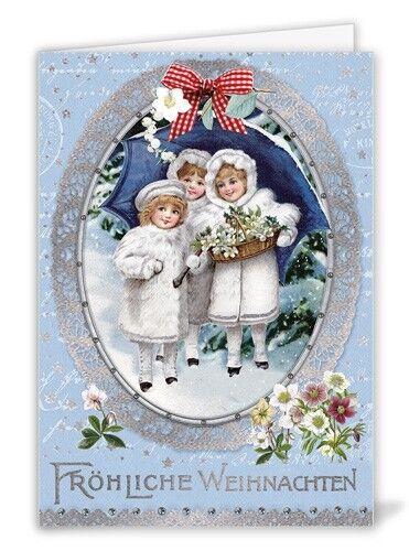 *Edition Tausendschön*Weihnachten*Doppelkarte*Nostalgie*Kindermotive*